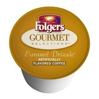 Folgers Gourmet Selections Caramel Drizzle K-Cups (48 count) by The Folger Coffee Company [Foods]