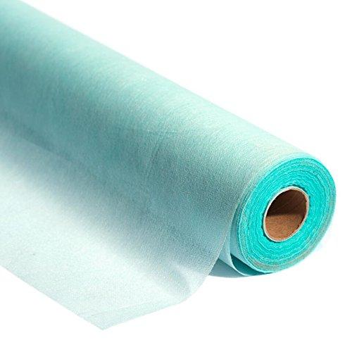 Aqua Flame Retardant Gossamer Decorating Fabric, 19' x 100 yard roll