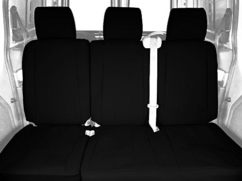 CalTrend Rear 60/40 Split Bench Custom Fit Seat Cover for Select Ford F-150 Models - DuraPlus (Black) -