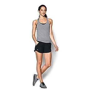Under Armour Women's Fly-By Shorts, Black/Black, Medium