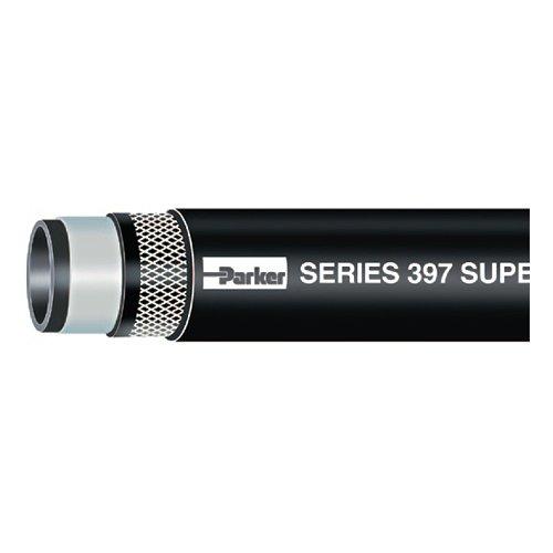 250' Id Hose - Parker Hannifin 39704 Black Nitrile Super-Flex FL Barrier Fuel Line Hose, Black, 250' Length, 1/4