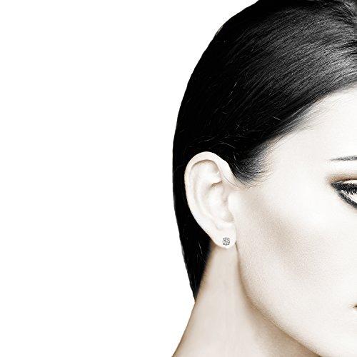 IGI Certified Diamond Stud Earrings for Women Set in 10K Rose Gold, (Clarity I2I3) by Diamond Hub (Image #2)