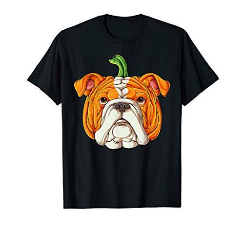 English Bulldog Pumpkin T shirt Halloween Kids Thanksgiving (Best Costumes For English Bulldogs)