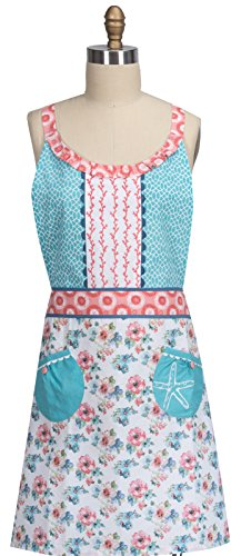 Beach Apron (Kay Dee Designs Beach House Inspirations Floral Hostess Apron)