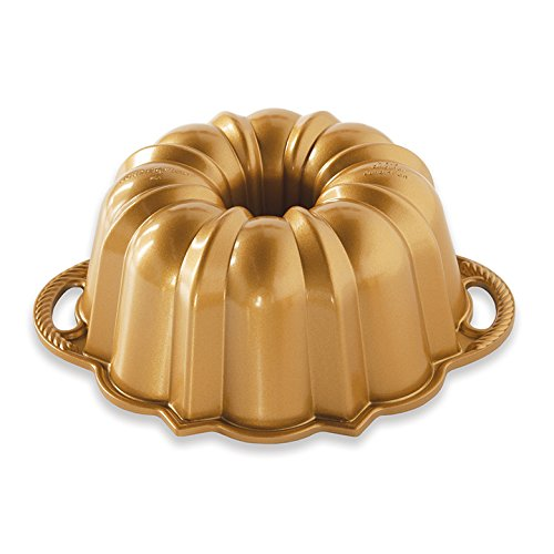 Nordic Ware 51277 Anniversary Bundt 6, 6 Cup, Gold by Nordic Ware