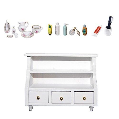 Homyl Muebles de Casa de Muñecas Kits de Baño Decoración para 1/12 Dollhouse Blythe Licca