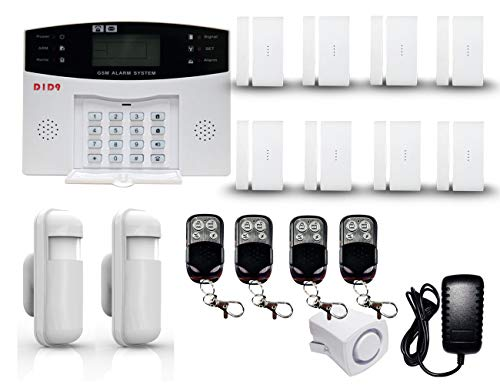 D1D9 GSM Anti Burglar DIY Smart House Alarm System Kit for Homes Household Wireless Security Auto-dialer Door Contact Motion Detector Homekit