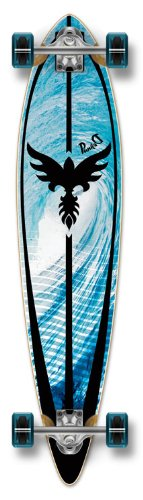 Yocaher Punked Graphic Pintail Complete Longboard Skateboard, Tsunami, 40 x 9-Inch (Hanger Cruiser)