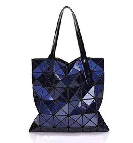 Gialla Tinta Borsette Mano Borsa A Tote Dark Bao Geometrica Blue Piegata Bag Mjfo Donna Borse Unita OzqwFFf