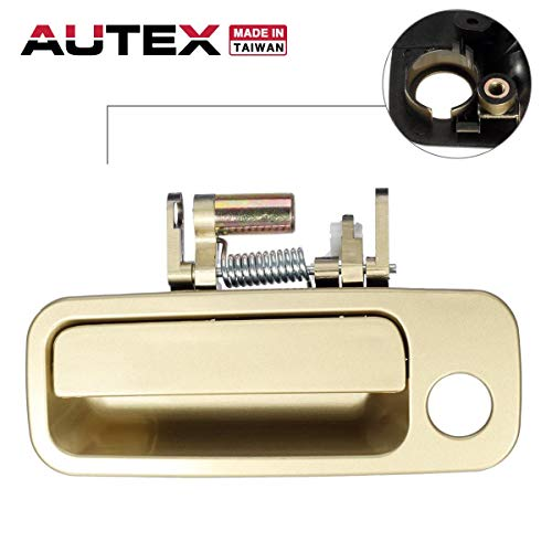 AUTEX 1pc Gold Exterior Front Left Driver Replacement Door Handle Compatible with 1997 1998 1999 2000 2001 Toyota Camry (Built in Japan) 79426CD, 69220-AA010, 69220AA010 6922033041C0