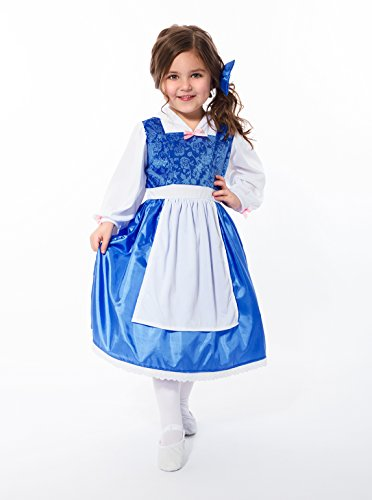 Little Adventures Beauty Day Dress with Bow Costume (Large Age 5-7) -