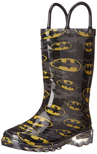 Batman Light Up Shoes (Western Chief Boys Light-Up Rain Boot, Batman Signal, 12 M US Little Kid)