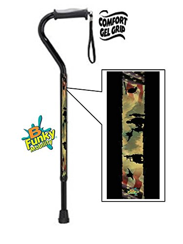 Gel Grip Walking Cane Military Combat