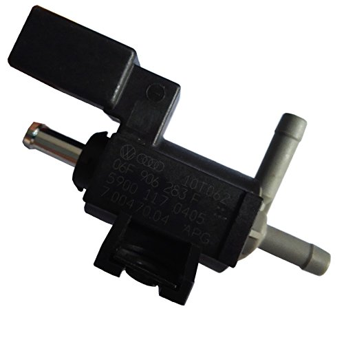 (Turbocharger Boost Solenoid Valve 06F906283F Boost Pressure Control Valve Fit For VW PASSAT CRAFTER AUDI A3 A4 A5 A6 TT SEAT SKODA Auto Cars)