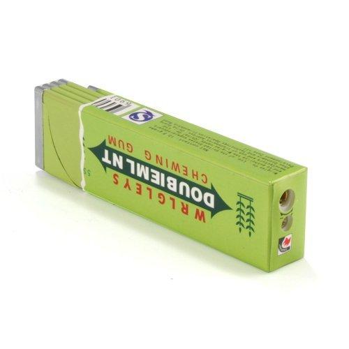 Empty Mini Chewing Gum Smoke Cigar Pipe Flame Butane Lighter Fire Starter Green