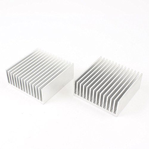uxcell-aluminum-chipset-heatsink-heat-diffuse-dissipation-cooling-fin-50mm-x-50mm-x-20mm-2pcs-silver
