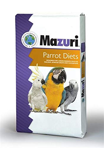 Mazuri Parrot Maintenance Diet Bird Food, 25 lb Bag by Mazuri