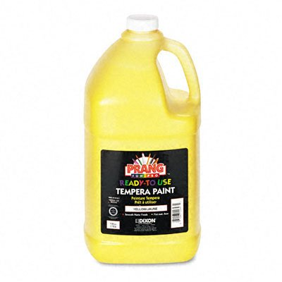 Prang 22803 Prang Ready-to-Use Tempera Paint, Gallon, Yellow, 1 Unit