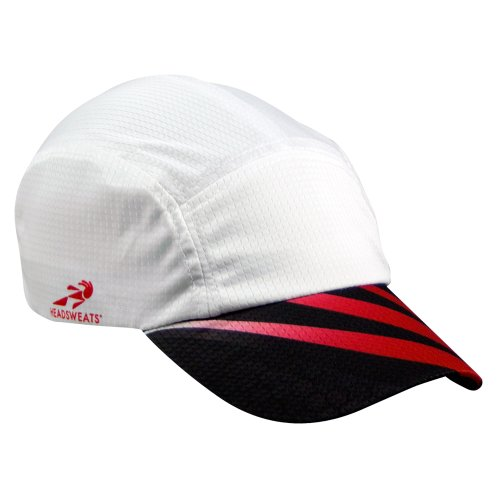 Headsweats Grid Race Performance Running/Outdoor Sports Hat, White Sublimated Red/Black, One Size (Headsweats Sun Visor compare prices)