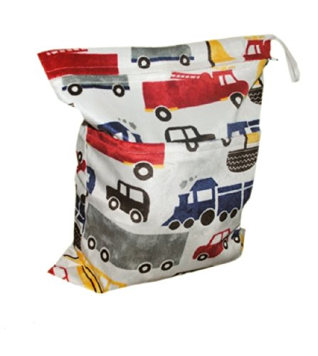 Besto Baby Wet and Dry Cloth Diaper Waterproof Laundry Bags, Car Printed from BESTOBABY