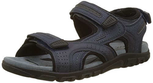 Geox Men's Uomo Strada D Ankle Strap Sandals Blue (Navy/Dk Grey) 1iwX7iT