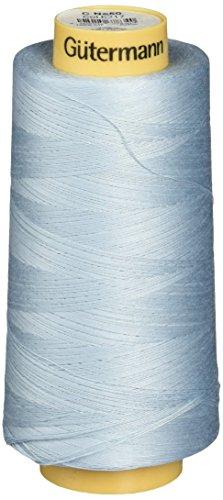 Gutermann Natural Cotton Thread Solids, 3281-Yard, Powder Blue (Gutermann Powders Cotton)