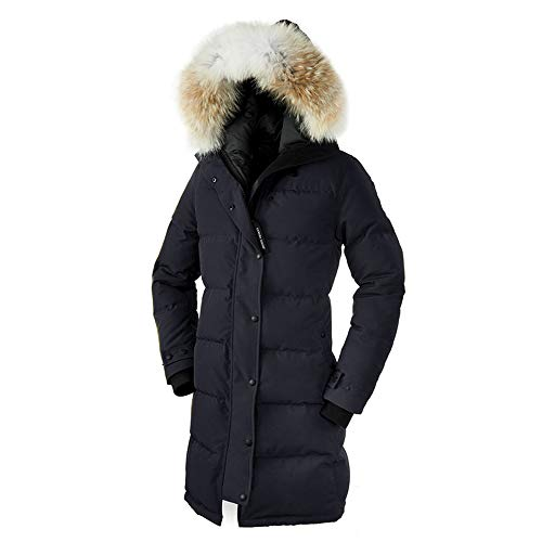 Women's Canada Shelburne Winter Fusion Fit Duck Down Navy Parka-(M)