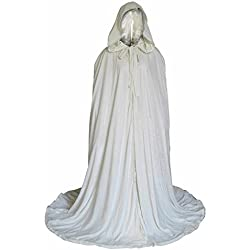 Fenghuavip Stylish Floor Length Winter Bridal Wedding Cloak White Cape (L)