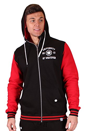 University of Whatever - Zip Hoodies - Men - Mono Dept(S Black/Red JH051) (Sweters Real Madrid)