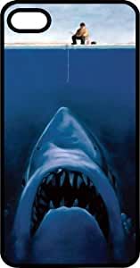 Great White Shark Hunting For Fisherman Black Rubber Case for Apple iPhone 4 or iPhone 4s