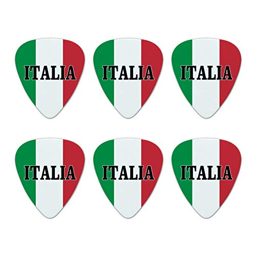 Italia Italy Italian Flag Novelty Guitar Picks Medium Gauge - Set of 6
