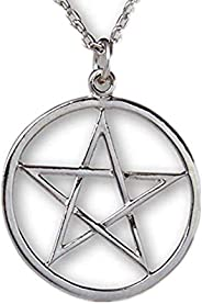 ODETOJOY Choker Necklace for Women Chain Pastel Grunge Gothic Supernatural Pentacle Pentagram Wiccan Pendant