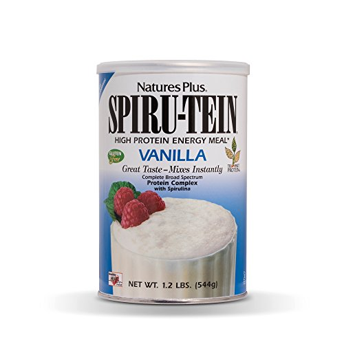 (NaturesPlus SPIRU-TEIN Shake - Vanilla - 1.2 lbs, Spirulina Protein Powder - Plant Based Meal Replacement, Vitamins & Minerals For Energy - Vegetarian, Gluten-Free - 16 Servings)