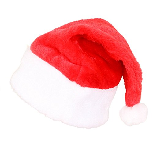 Wordbuy Velvet 3 Pcs Santa Christmas Party Hat Costume Cap for Children and (Oversized Santa's Elf Costumes)
