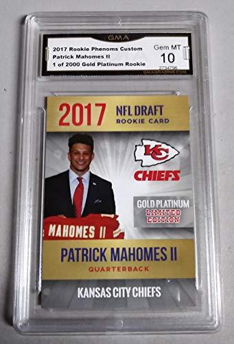 PATRICK MAHOMES 2017 2018 ROOKIE CARD GRADED GEM MINT GMA 10 NON PSA 10 CHIEFS