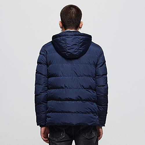Men's Autumn Winter Casual Pocket Zipper Cotton Hoodie Thermal Top Coat Big and Tall by Allywit (Image #4)