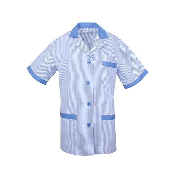 MISEMIYA - Casaca Mujer Cuello Solapa Raya Uniforme ESTÉTICA Médico Enfermera Dentista Limpieza Veterinaria SANIDAD HOSTERERÍA Ref:T820 1