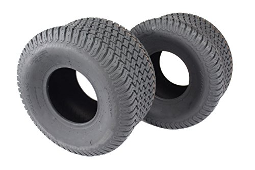 Set of Two 20x10.00-8 4 Ply Turf Tires for Lawn & Garden Mower 20x10-8 by Antego
