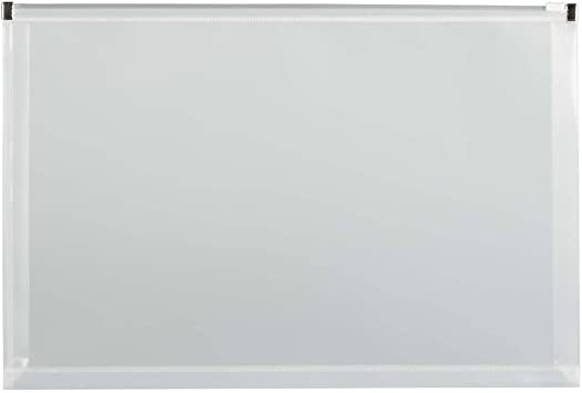 Clear JAM PAPER Plastic Envelopes with Zip Closure 12//Pack 9 1//2 x 10 1//2 Legal Booklet