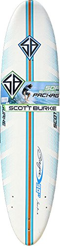 Scott Burke 7'6'' Surfboard Package, White/Blue by Scott