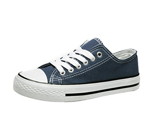 Gaorui Mujer Canvas Sneaker Atheletic Sports Flats Zapatos Con Cordones Girl Trainer Plimsolls Negro