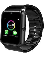 Jourist Smartwatch Sportuhr mit Bluetooth, Kamera, Fitness Tracker mit Schrittzähler, Touchscreen, SIM-Slot und Steckplatz für microSD-Karte
