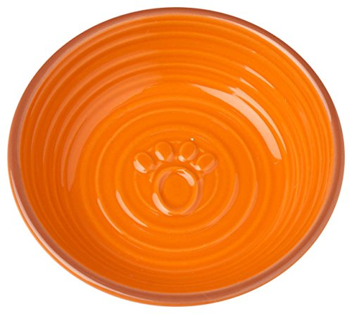Pet Rageous Key West Embossed Paw Saucer, 6 oz/5
