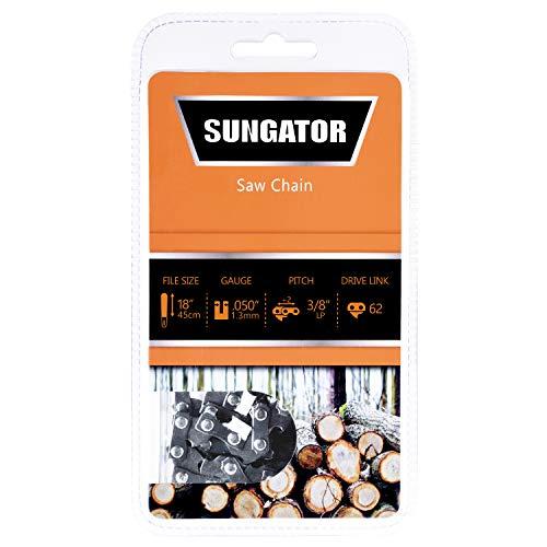 SUNGATOR 18-Inch Chainsaw Chain SG-S62, 3/8