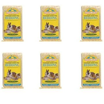 Sun Seed Company SSS18010 Northern White Pine Presspack Small Animal Bedding, 1200 Cubic Inch, Pack of 6 by Sun Seed