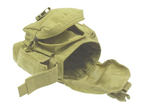 BE-X Modulare Feldflaschenhülle für 1l Armeefeldflaschen, mit Seitentasche - Coyote Tan / MJK