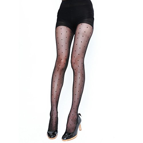 Women's Sheer to Waist Line Floral Patterned Tights Pantyhose Tattoo Tights (SH010-A) ()