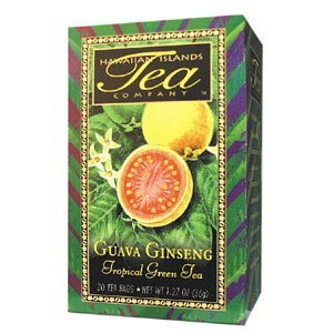 (Guava Ginseng Tropical Green Tea, All Natural, 20 Teabags, Blended and Packed in Hawaii)