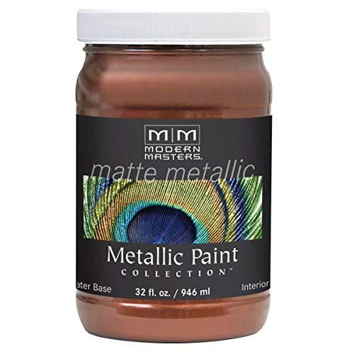 Modern Masters MM205 Matte Metallic Paint, Antique Copper, Quart