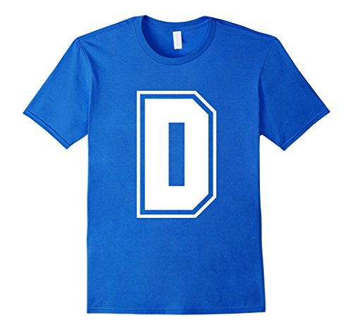 [Men's Letter D T-Shirt - More Colors Numbers & Letters Available 3XL Royal Blue] (College Girls Group Halloween Costumes)